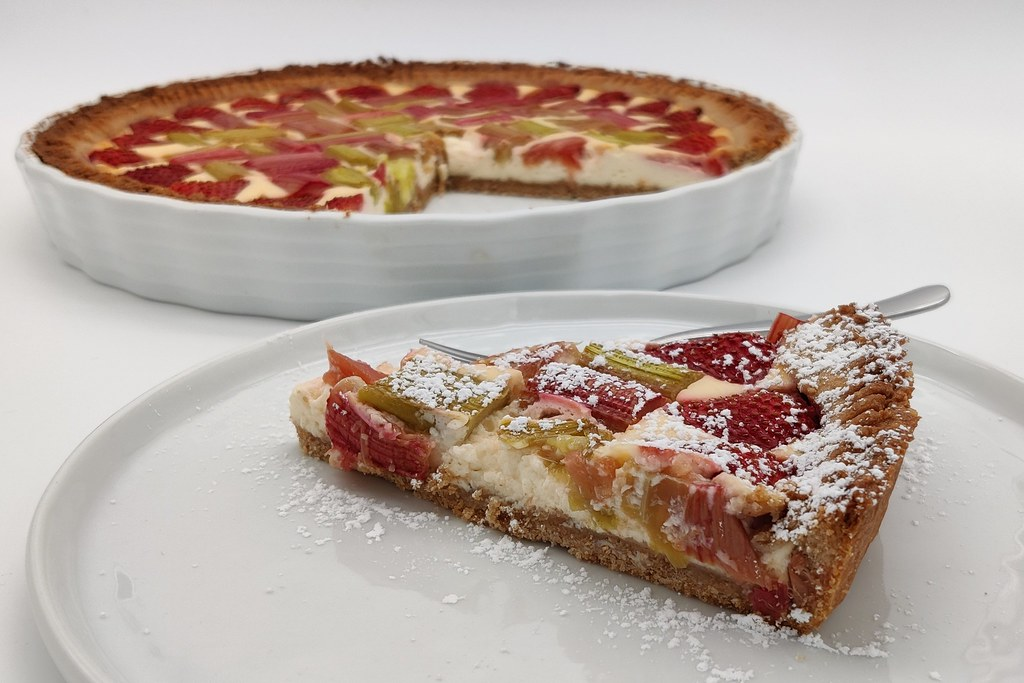 Rhabarber-Erdbeer-Tarte