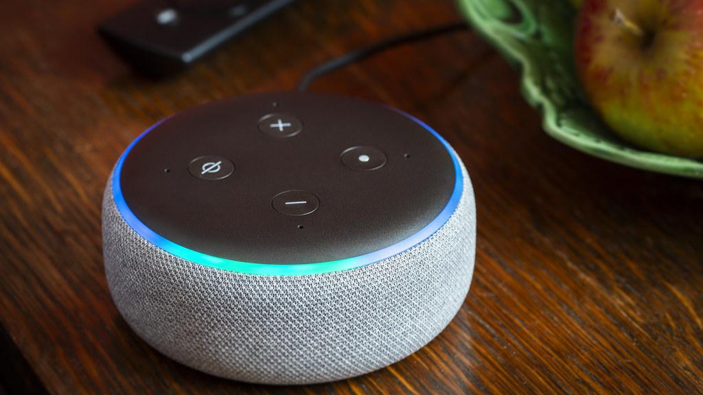 Alexa AI device in the home