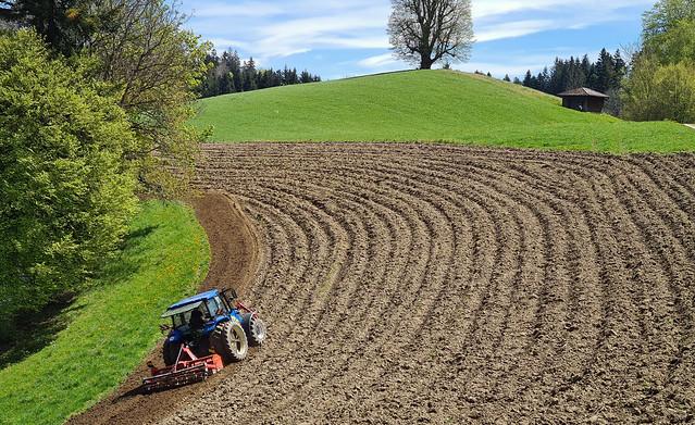 Swiss Farmer at work