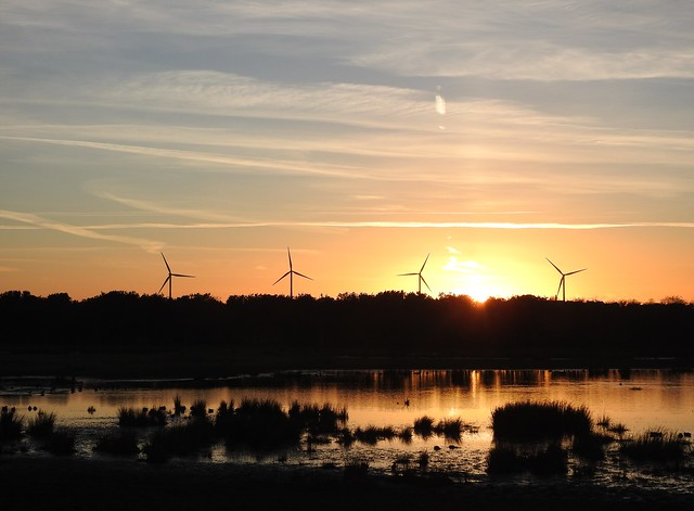 Druridge Sunset - Wind Turbine Quartet