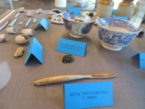Bone toothbrush, Through the Shop Window exhibition