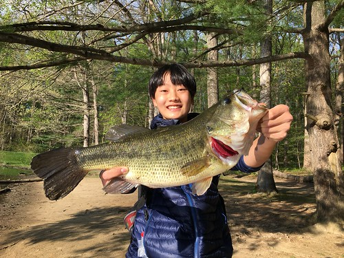 Photo of youth holding a largemouth bass