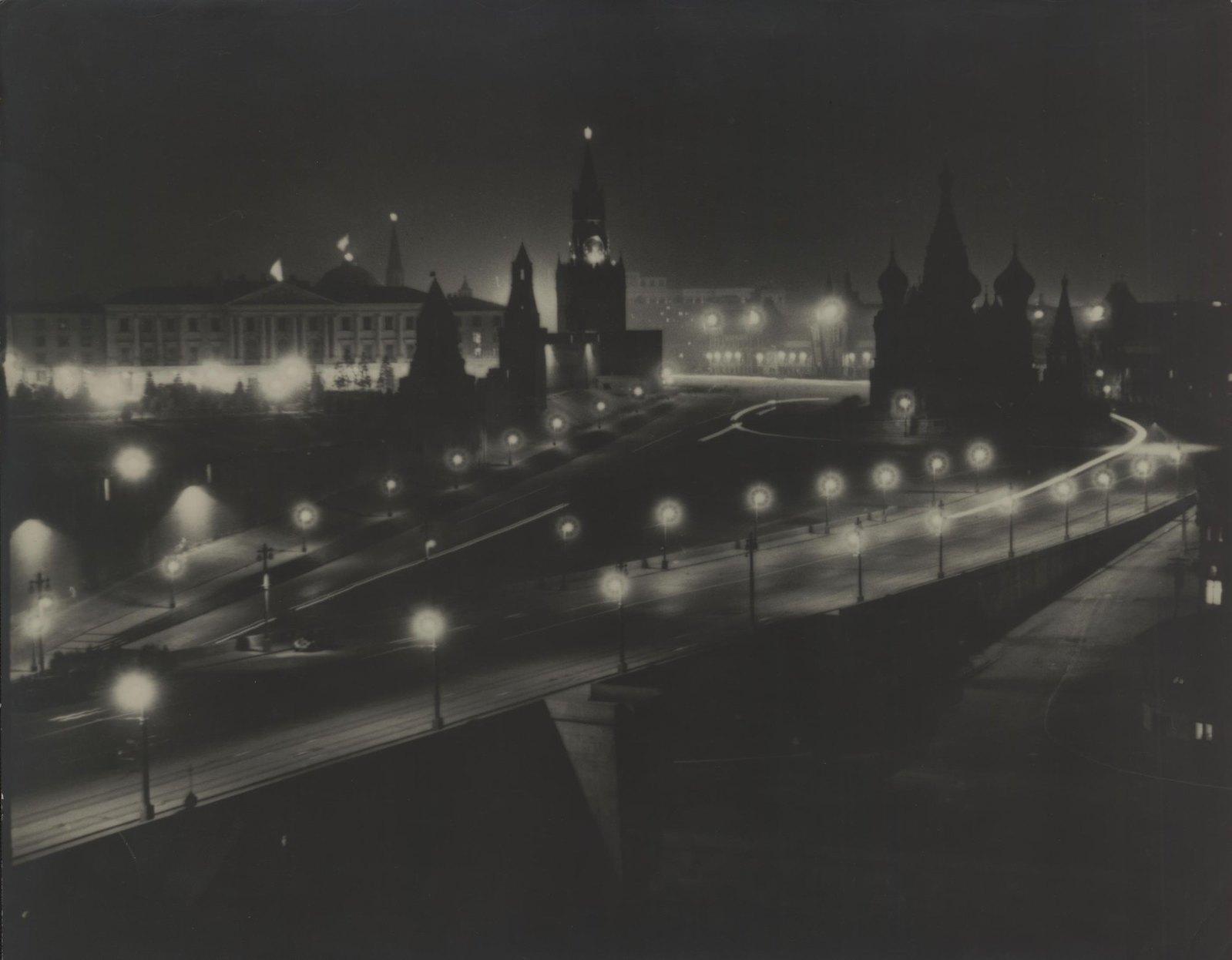 1940-е. Москва ночью (1)