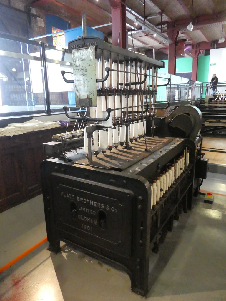 Spinning machines at the Manchester Museum of Science & Industry