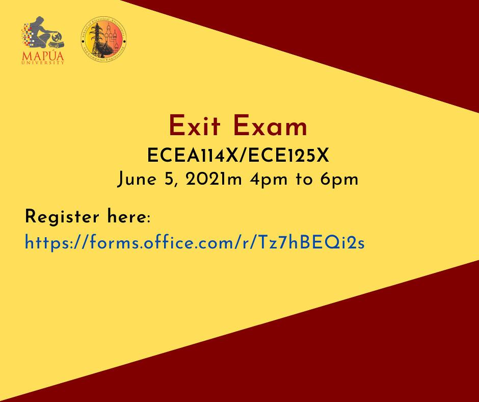 ECEA114X/ECE125X Exit Exam - June 5, 2021