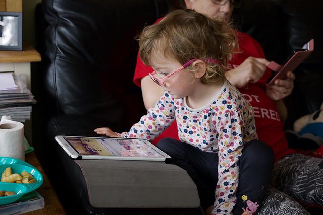 Mollie, & Her Tablet.