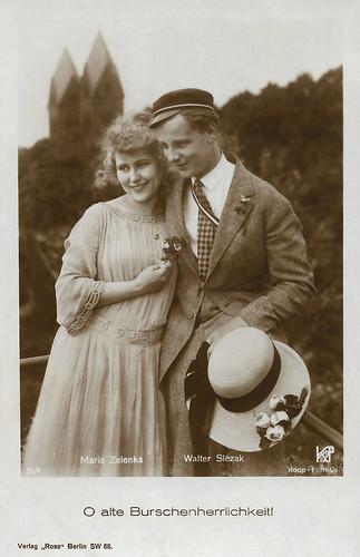Maria Zelenka and Walter Slezak in O alte Burschenherrlichkeit! (1925)