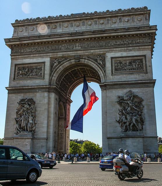 L'Arc de Triomphe de l'Étoile, place de l'Étoile, 8e arr. de Paris. Île-de-France, France