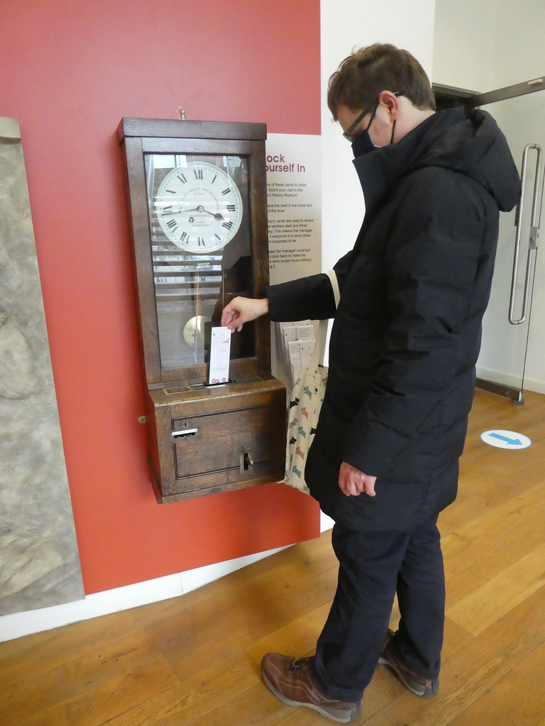 Clocking-in machine, People's History Museum, Manchester