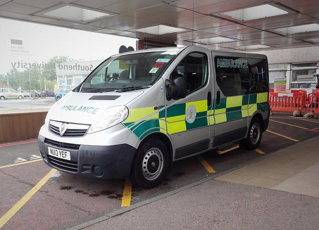 Vauxhall Vivaro patient transport.