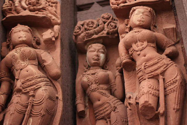 Dancers with broken limbs - Statues from Sanchi, India, 2012.