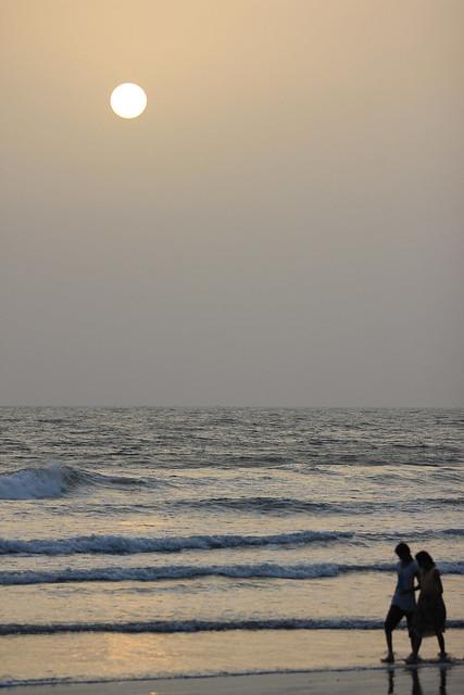 Sunset at the beach - Konkan, India, 2012.