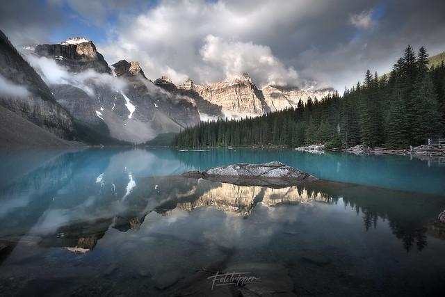 'August Rain' - Moraine Lake, Banff
