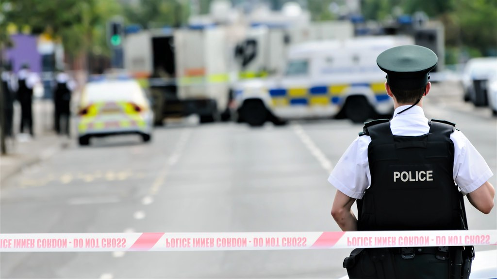 UK Police attending an incident