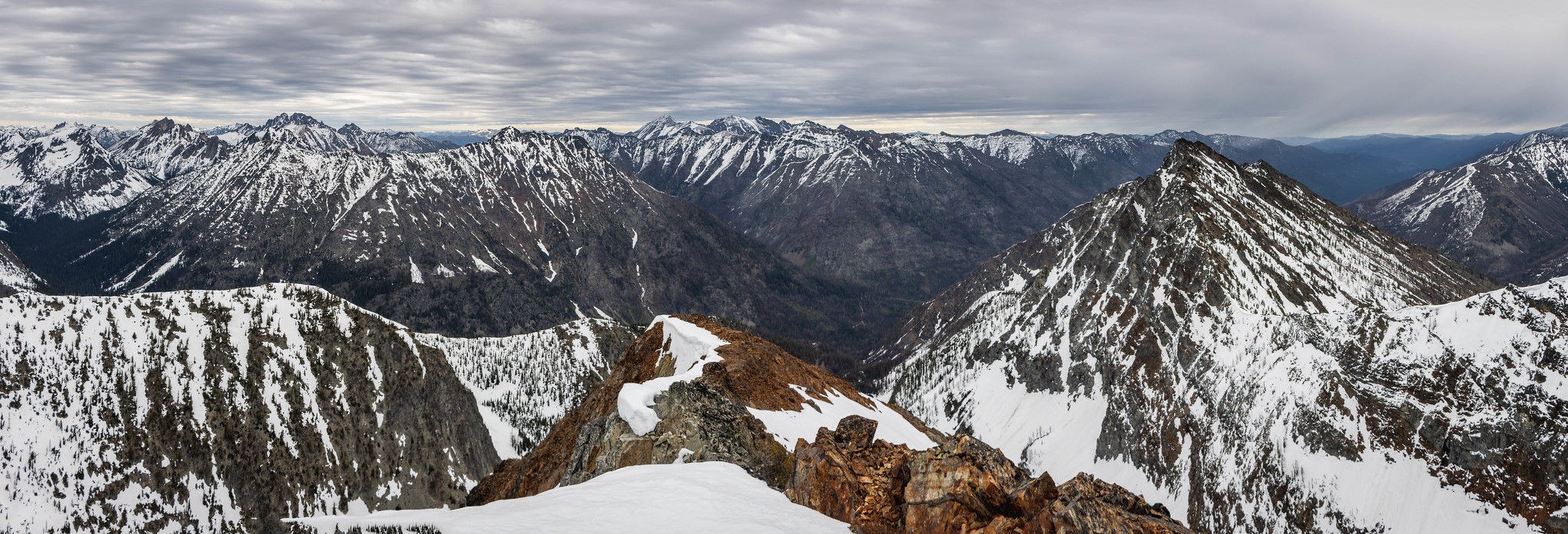 Northern panoramic view from Mother Lode Peak
