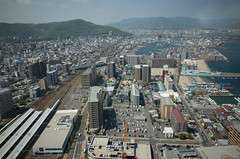 Takamatsu from above, April 2016
