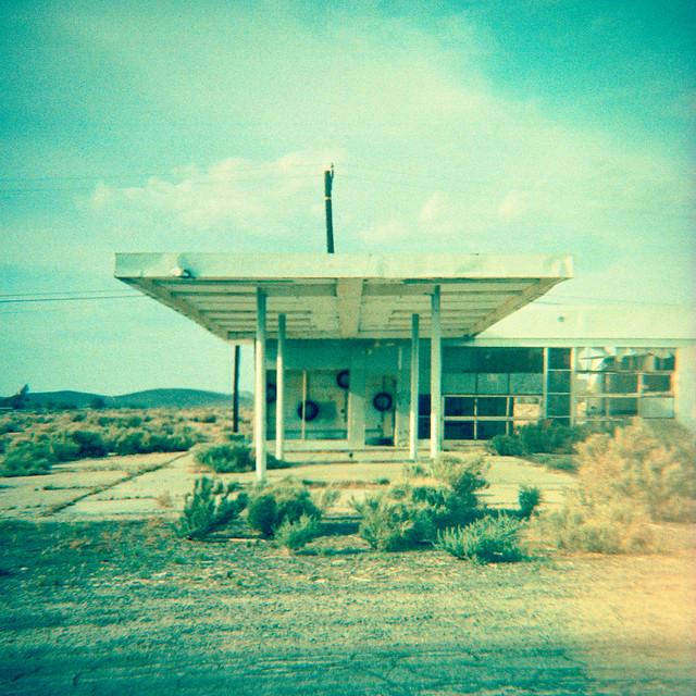 no gas today (xpro). mojave desert, ca. 2014.