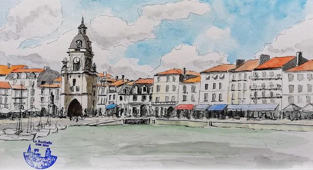 La Rochelle  Porte de la grosse horloge