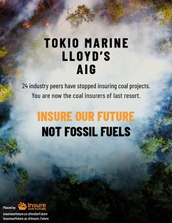 2021-05-27 - Actions calling on AIG, Lloyd's and Tokio Marine to exit coal now