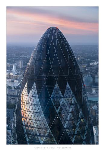 london gherkin 30stmaryaxe herontower duckwaffle sunrise view city cityscape cityview colour sky skyscraper building architecture urban england