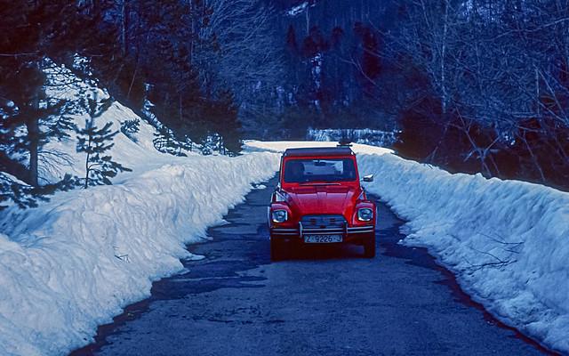 Ordesa en mayo de 1980, primer coche Citroen Diane 6