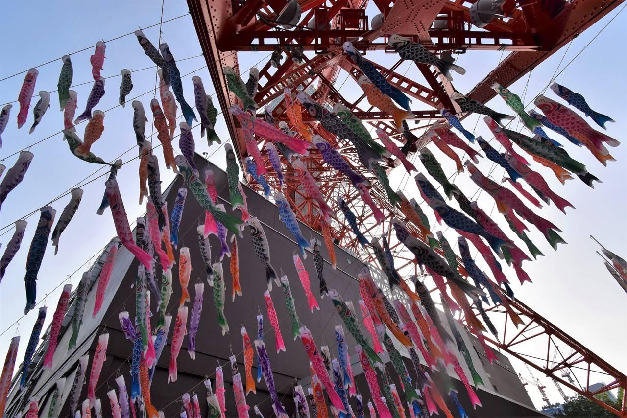 東京タワーの鯉のぼり