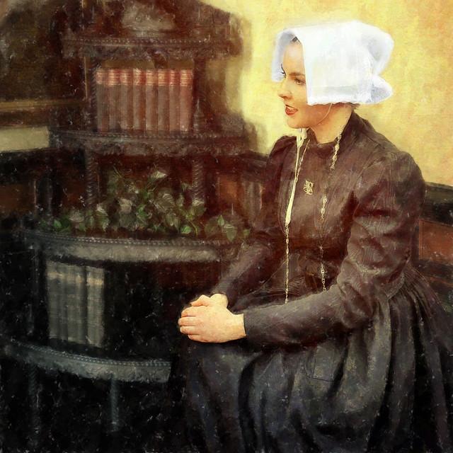 Dame dans le salon