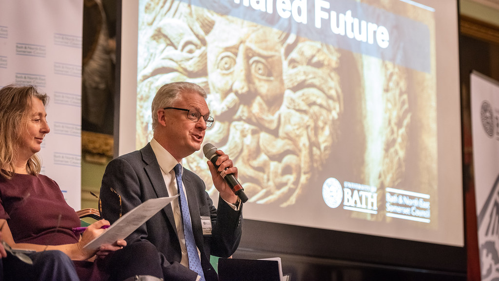 The Vice-Chancellor speaking at the Our University, Our Future event.