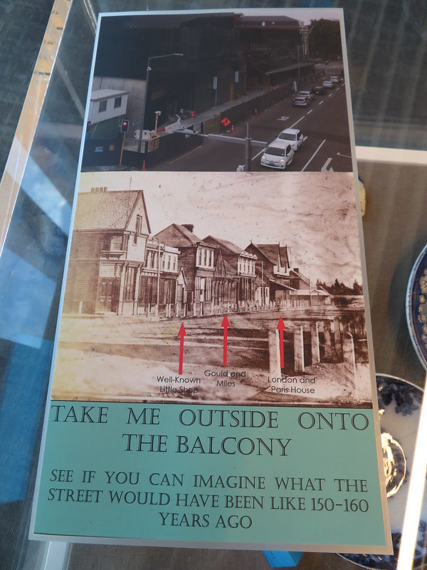 Old and new views of Colombo St, Through the Shop Window exhibition