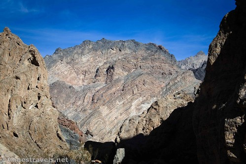Folds and other interesting geological phenomena in Fall Canyon, Death Valley National Park, California
