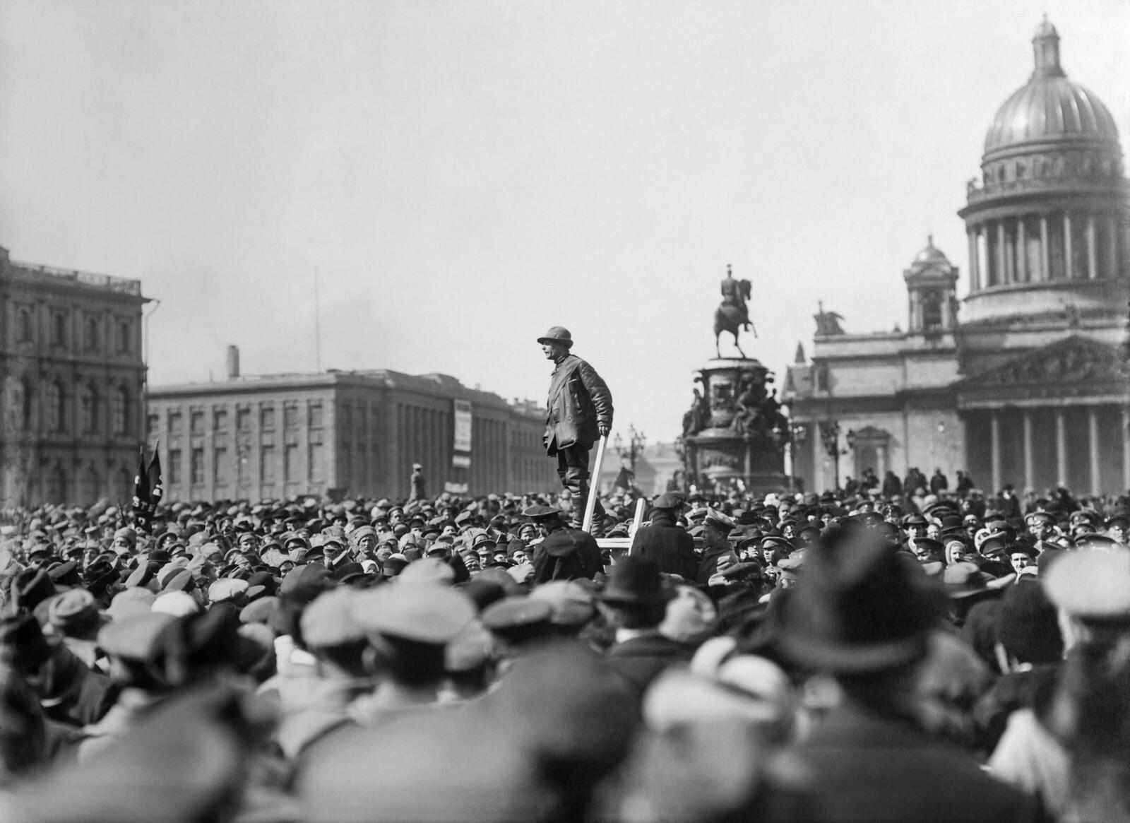 1917. Первомайская демонстрация в Петрограде