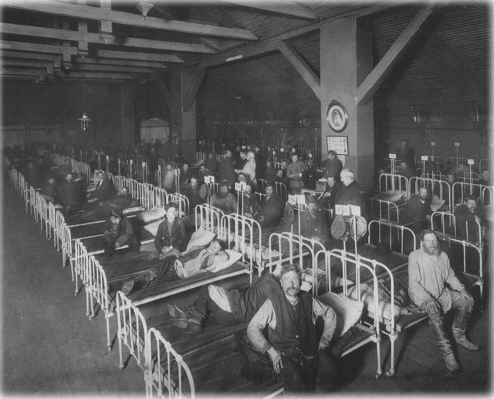 1909. Гостиница для рабочих в помещении бывшего Стеклянного завода Петербургского общества трезвости