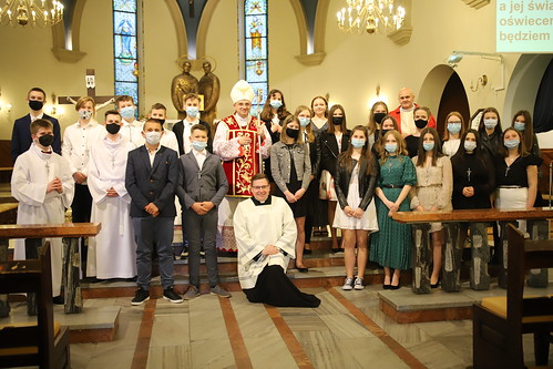 Bierzmowanie w parafii św. Apostołów Piotra i Pawła w Trzebini 26.05.2021 r.