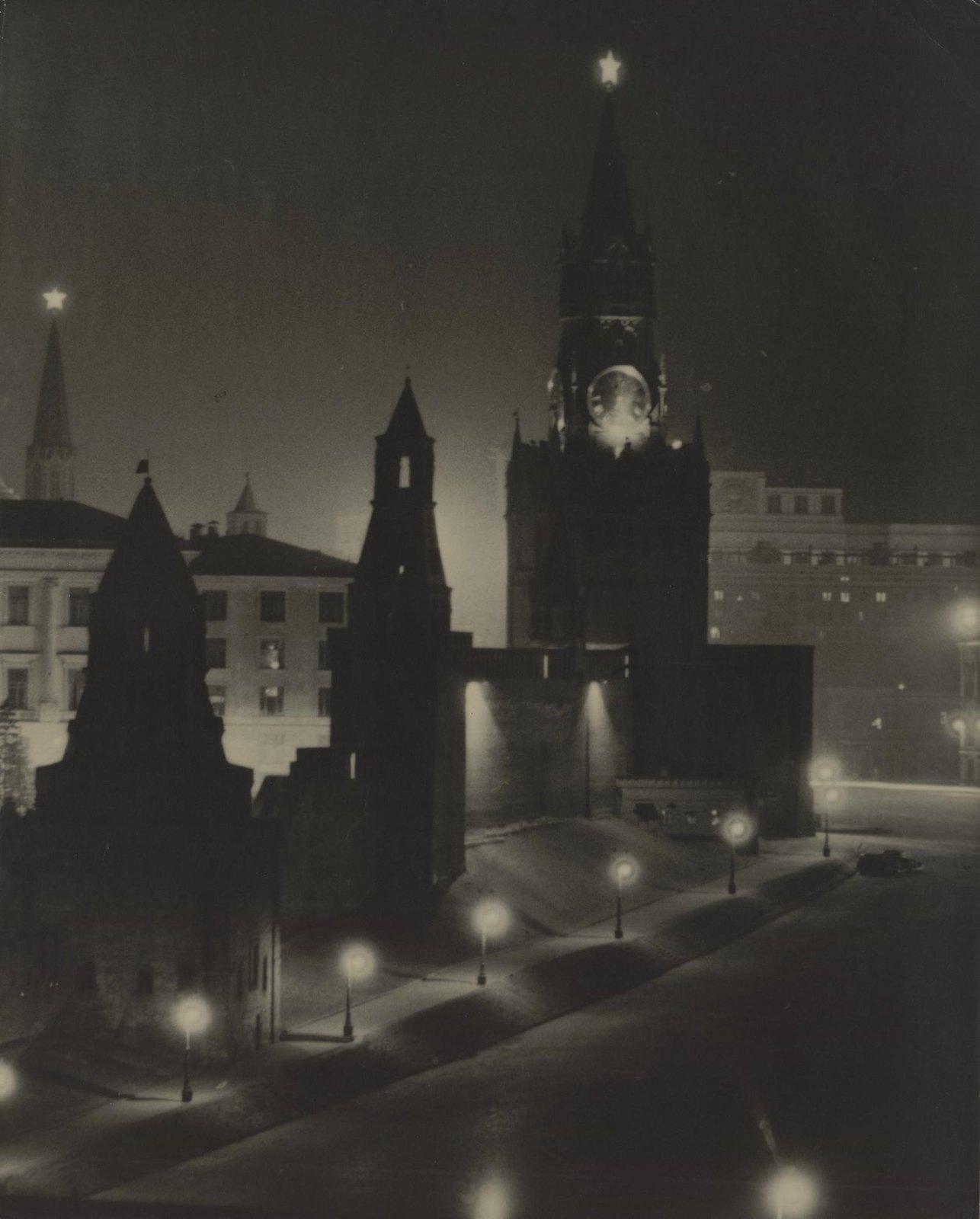 1940-е. Москва ночью (2)