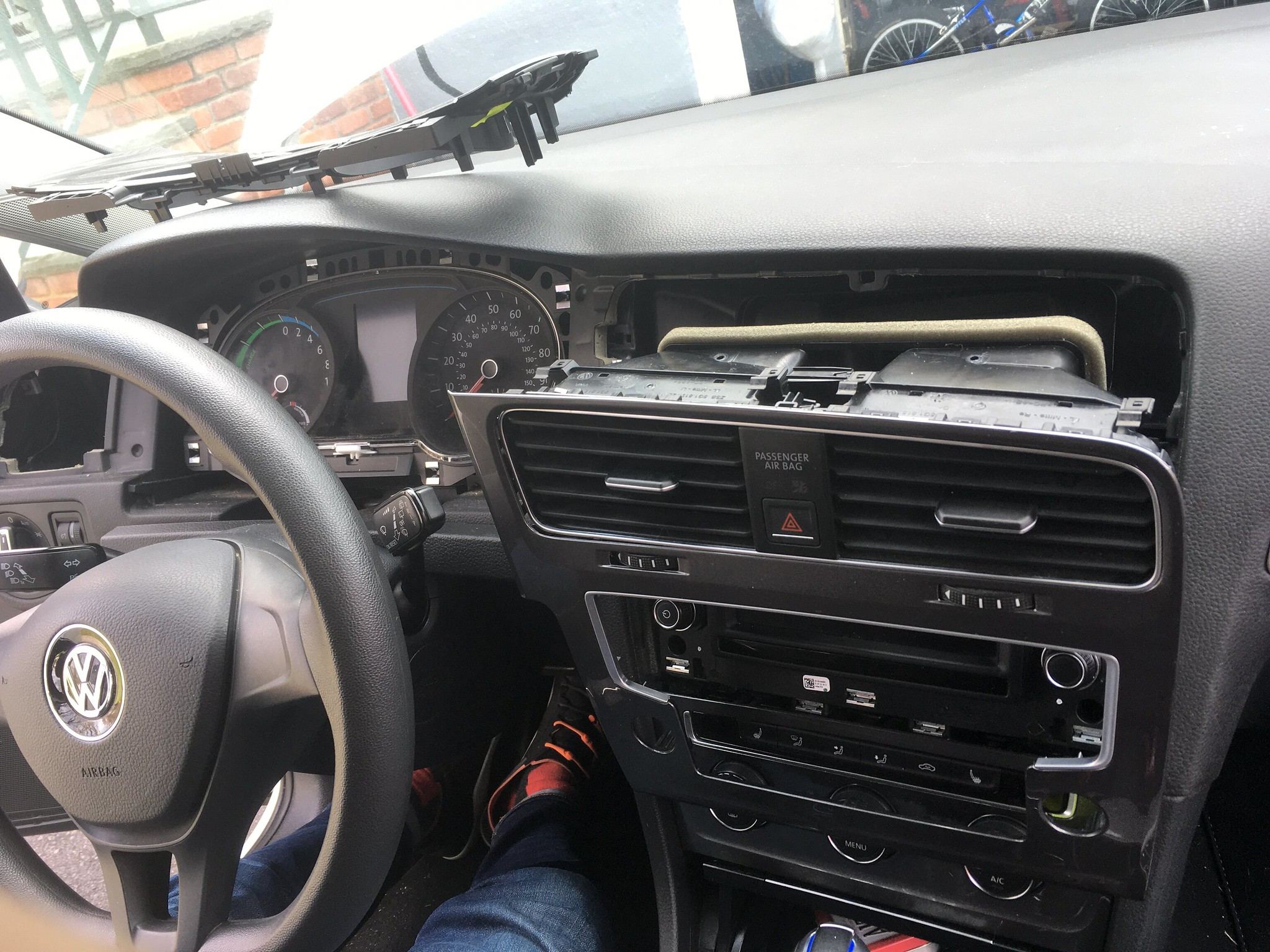 Disassembling dashboard to remove Car-Net