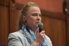 State Rep. Kathleen McCarty addresses the legislature during a point of personal privilege on the House floor on May 24th.