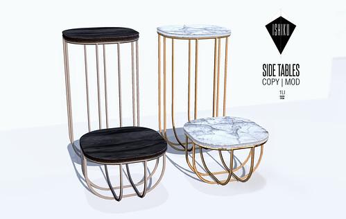ISHIKU GROUP GIFT | SIDE TABLES