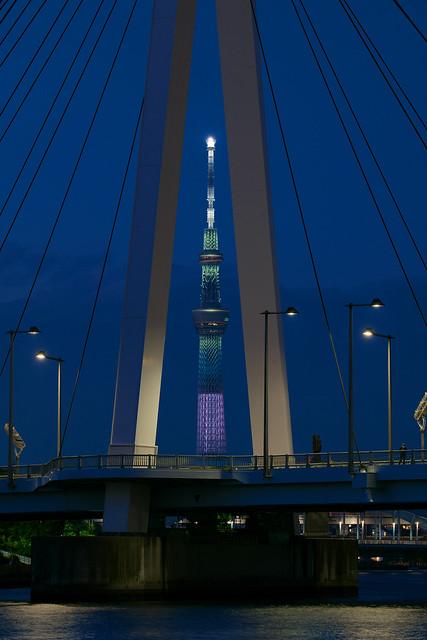 TOKYO SKYTREE between the main tower