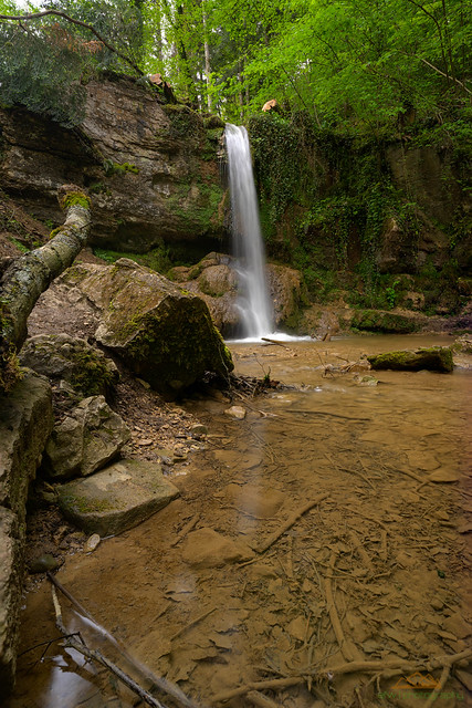 Linner Wasserfall im Sägimühlitäli, Langzeitbelichtung