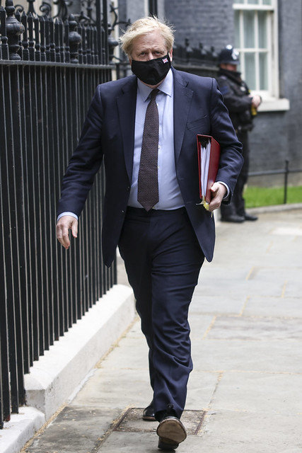 PM Boris Johnson leaves for Prime Minister's questions