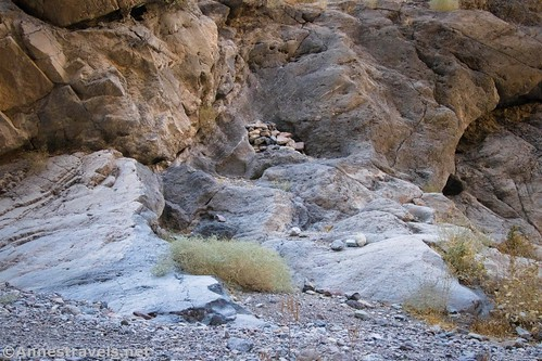 The beginning of the bypass route on the south side of Fall Canyon, Death Valley National Park, California