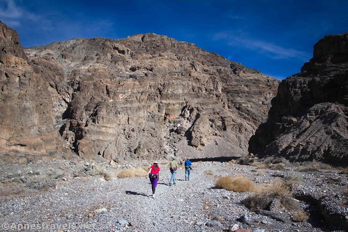 Hiking up the lower reaches of Fall Canyon, Death Valley National Park, California