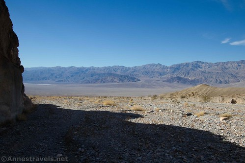 Views to the Cottonwood Mountains from the mouth of Fall Canyon, Death Valley National Park, California