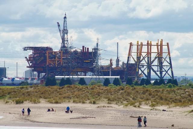 Beach Walk and Oil Rigs