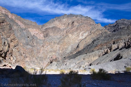 Wild cliffs and strata, Fall Canyon, Death Valley National Park, California