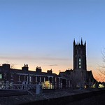 St Marks church at the blue hour in Preston