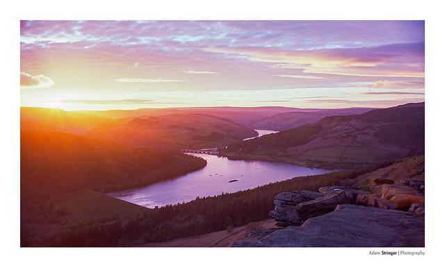 Bamford Edge sunset on Kodak Ektar