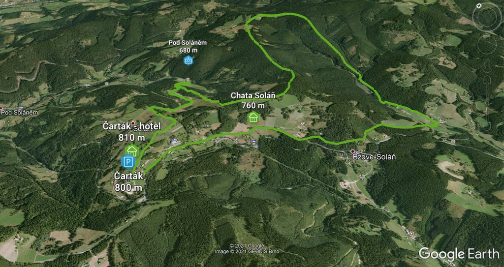 Ze Soláně kolem jezer Javorníky - Valašsko Tschechien foto 01