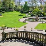 Ornate gardens at Miller Park, Preston