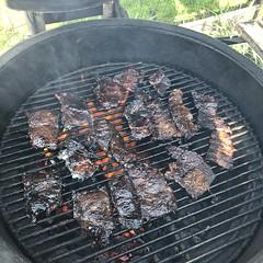 #KoreanStyle #kalbi #beefShortRibs #BBQ #KAMADO #KAMADOJOE #basmati #rice  #homemade #Food #CucinaDelloZio - #ribs #beef #corn